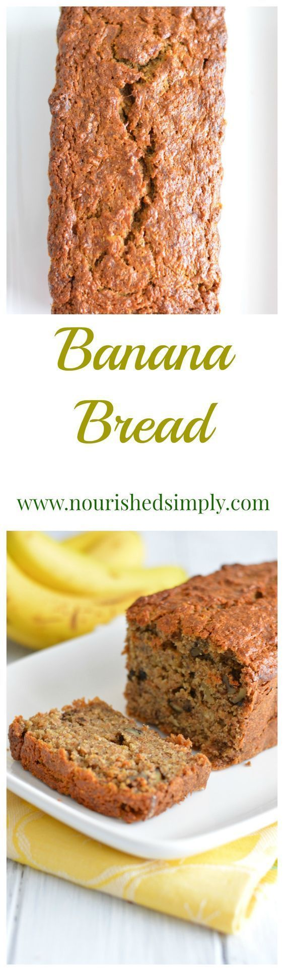 Leftover banana's should not go to waste.  Homemade banana bread is a great way to use older bananas.