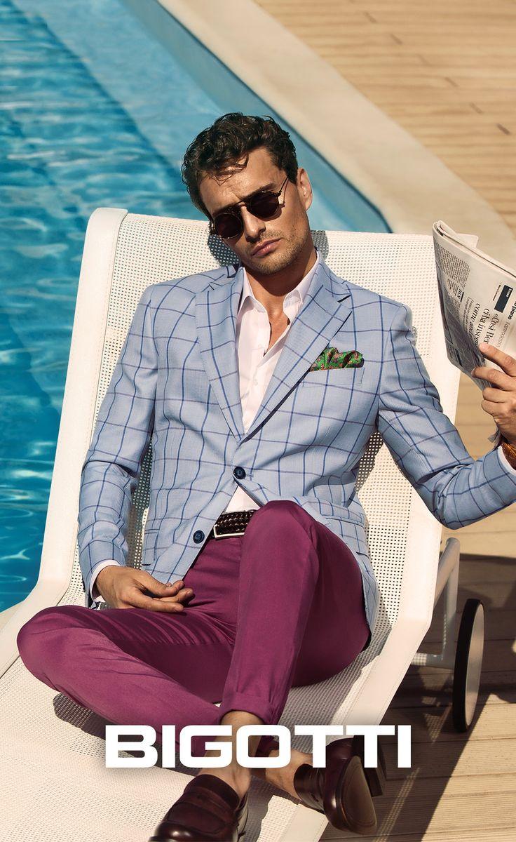 #Light #fabrics, #pastel #shades - the #Bigotti #plaid #blazer is #perfect for the #events of the #summer! www.bigotti.ro #followus #Bigottiromania #moda #barbati #sacouri #carouri #nuante #pastel #stilmasculin #smart #smartcasual #mensfashion #menswear #mensclothing #mensstyle #blazers #checks #stylingtips #ootd #ootdmen #fashiontag