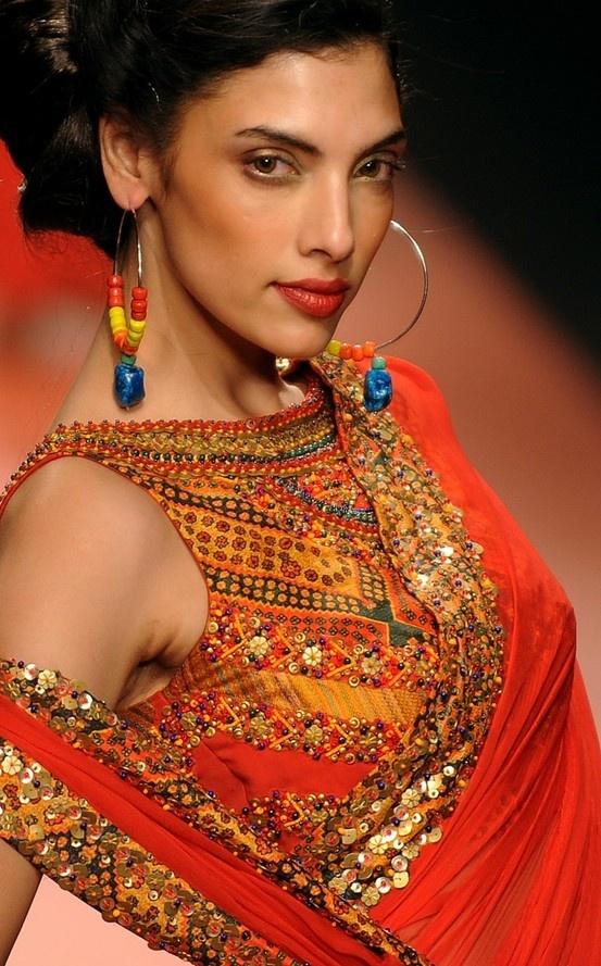 beautiful border & blouse