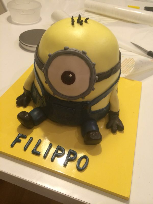 Minions Cake, from despicable me! By Serena