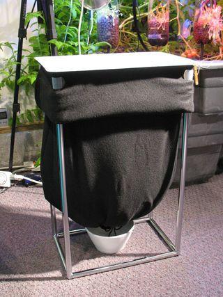 laundry hamper worm compost bag