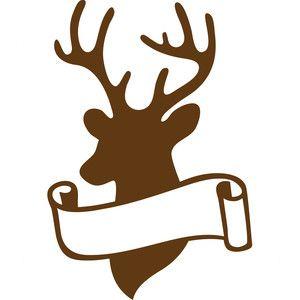 Silhouette Design Store: deer scroll frame