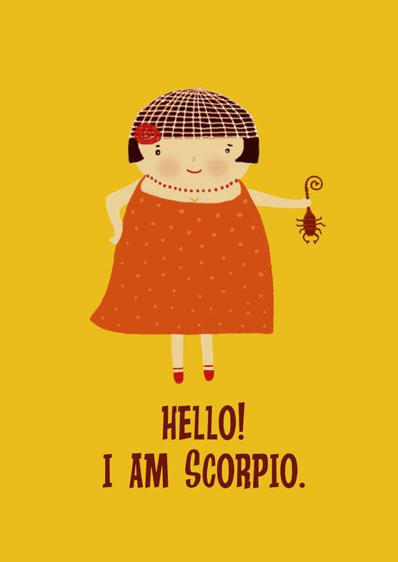 Scorpio Zodiac signs par Gayana sur Etsy, $8,00