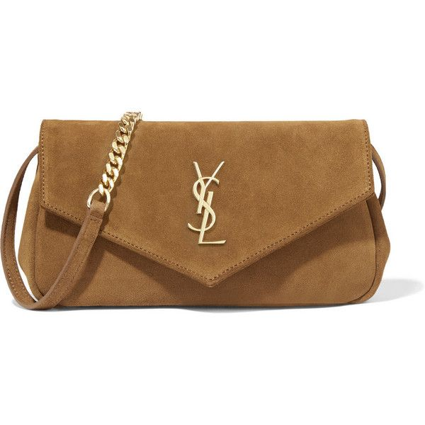 ysl discount bags - Saint Laurent Monogram small fringed suede cross-body bag found on ...