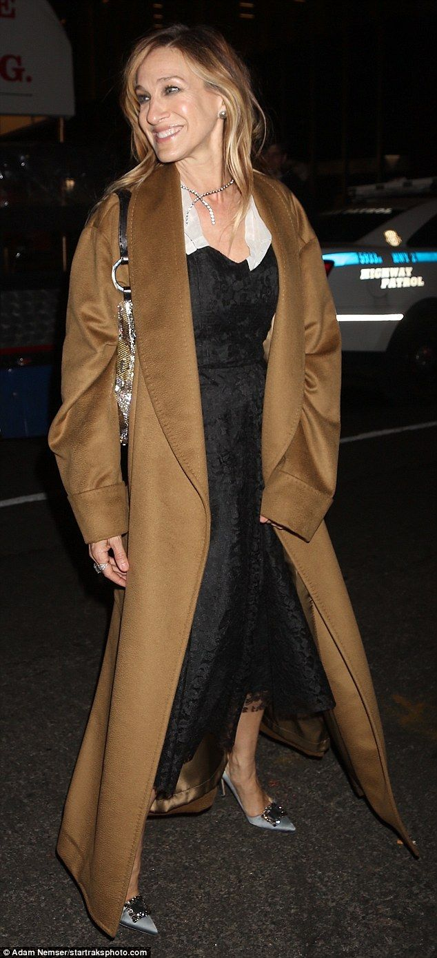 Winter chic: Sarah Jessica Parker showcased her esteemed fashion sense as she was spotted ...