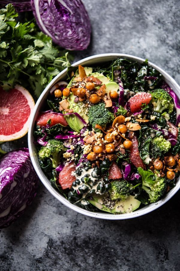 UOGoals: Make a mean green salad! The Mean Green Detox Salad / halfbakedharvest.com @hbharvest