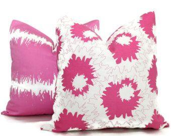 Studio Bon Pink And White Graphic Design Decorative Pillow