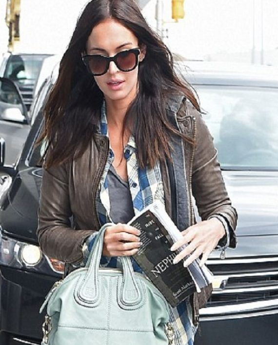 Megan Fox is a young American Model and Actress at New York Airport Leather Jacket Available.