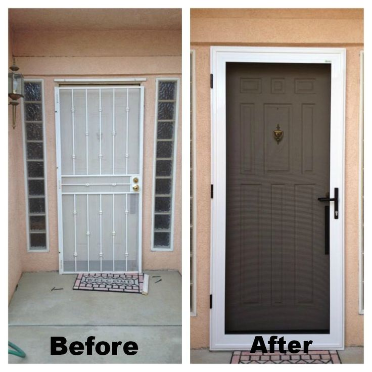 Guarda security screen door before after they also have for Window mesh screen