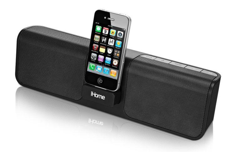 iHome iP46 Portable 30-Pin iPod/iPhone Speaker Dock $59.00 http://www.amazon.com/gp/product/B003ARSO08/ref=as_li_qf_sp_asin_il_tl?ie=UTF8&camp=1789&creative=9325&creativeASIN=B003ARSO08&linkCode=as2&tag=cafnew-20