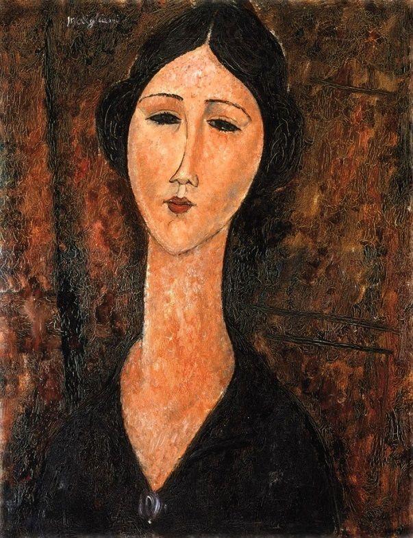 Amedeo Modigliani - Woman in Black Dress, 1919