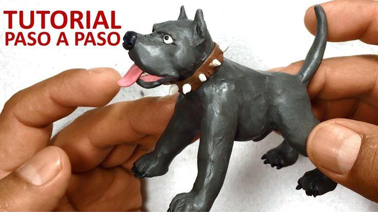 Como hacer un perro pitbull de plastilina / how to make a pitbull dog wi...