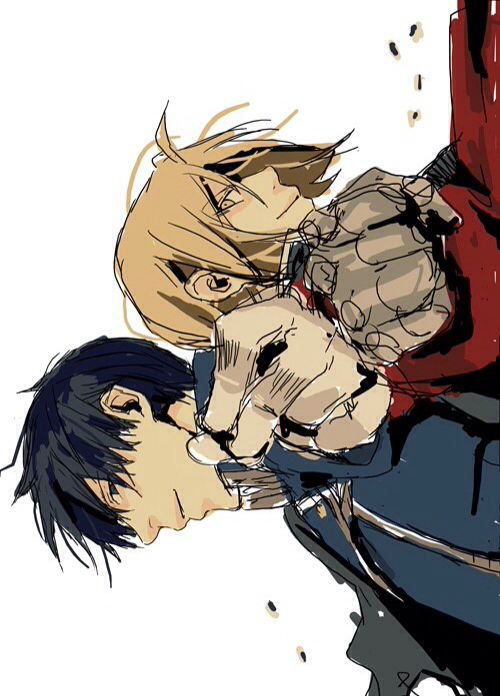 Fullmetal Alchemist Roy Mustang and Edward Elric #anime