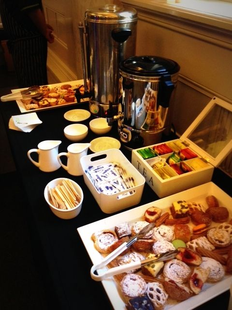 Crave Catering Tea & Coffee, Pastries table!