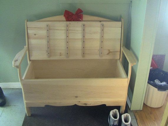 Deacon's Bench wooden unfinished pine by CanadianWoodenCrafts