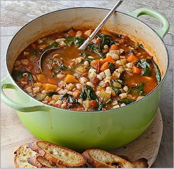 Winter Minestrone from Giada De Laurentiis - easy made easier by skipping the puree step!