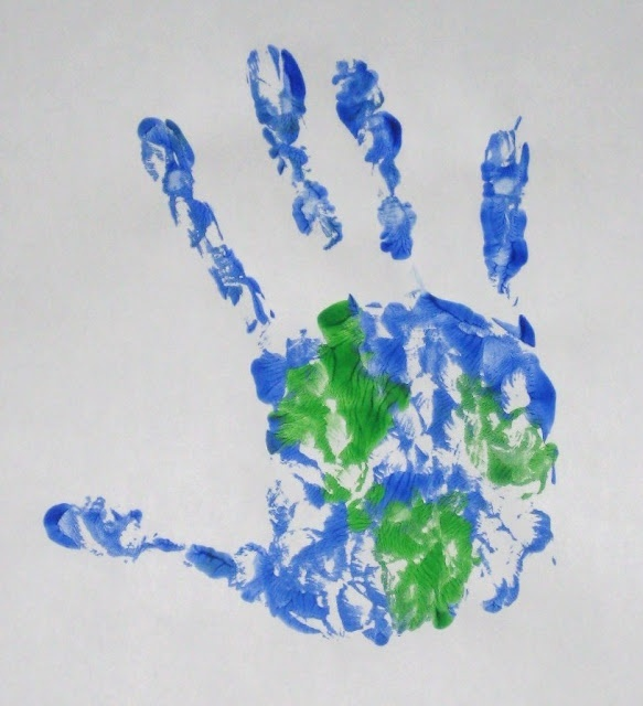 Earth Day hand prints