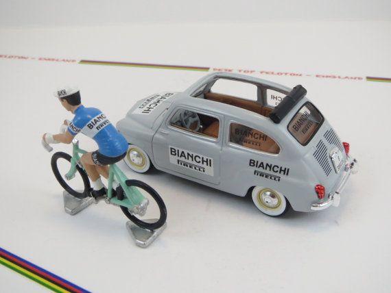Coppi Bianchi 1952 Metal Cycling Figure & by DeskTopPeloton
