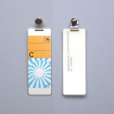 otl aicher identity badges for the 1972 munich olympics