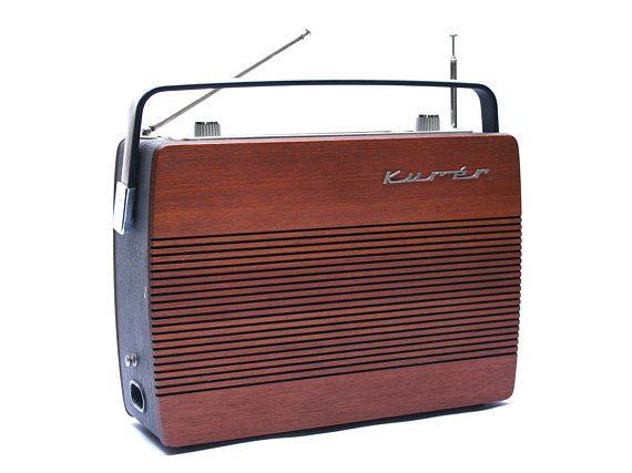Vintage Scandinavian rosewood RADIONETTE KURER radio