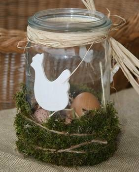 Osternest im Glas
