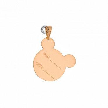 Πρωτότυπο δώρο για γέννηση για αγόρι/κορίτσι - Μενταγιόν ποντίκι ροζ χρυσό Κ9 με όνομα & ημερομηνία γέννησης | Πλακάκια για χάραγμα ΤΣΑΛΔΑΡΗΣ Χαλάνδρι #πλακετα #αγορι #κοριτσι #γεννηση