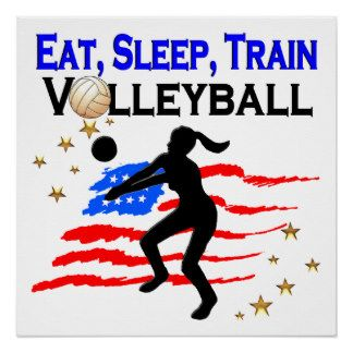LIVING MY VOLLEYBALL DREAM DESIGN POSTER Calling all Volleyball players! Awesome Volleyball designs on Tees and Gifts. http://www.zazzle.com/mysportsstar/gifts?cg=196107884926703578&rf=238246180177746410  #Volleyball #VolleyballGirl #Beachvolleyball #Lovevolleyball