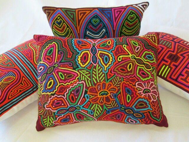 Mola Pillows from Precious Pieces.
