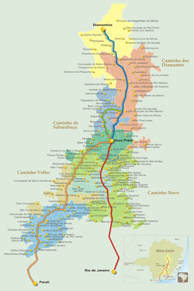 Mapa Estrada Real