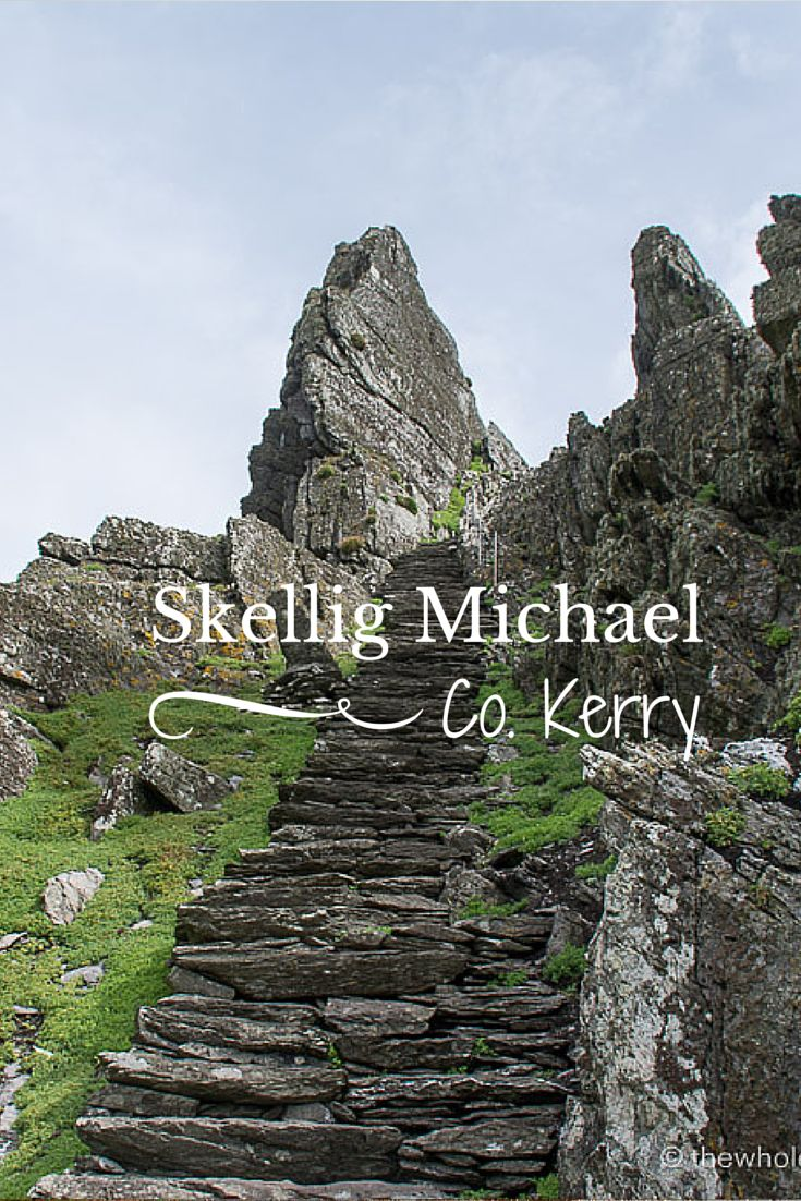 The incredible Skellig Michael, a UNESCO World Heritage Site and Star Wars filming location! Read more at: http://www.thewholeworldisaplayground.com/visiting-skellig-michael-skellig-islands-kerry/
