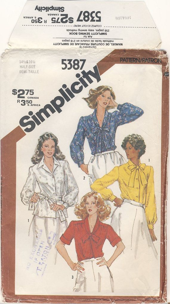 Simplicity 5387 Blouse in half sizes 14 1/2 by susanbeingsnippy
