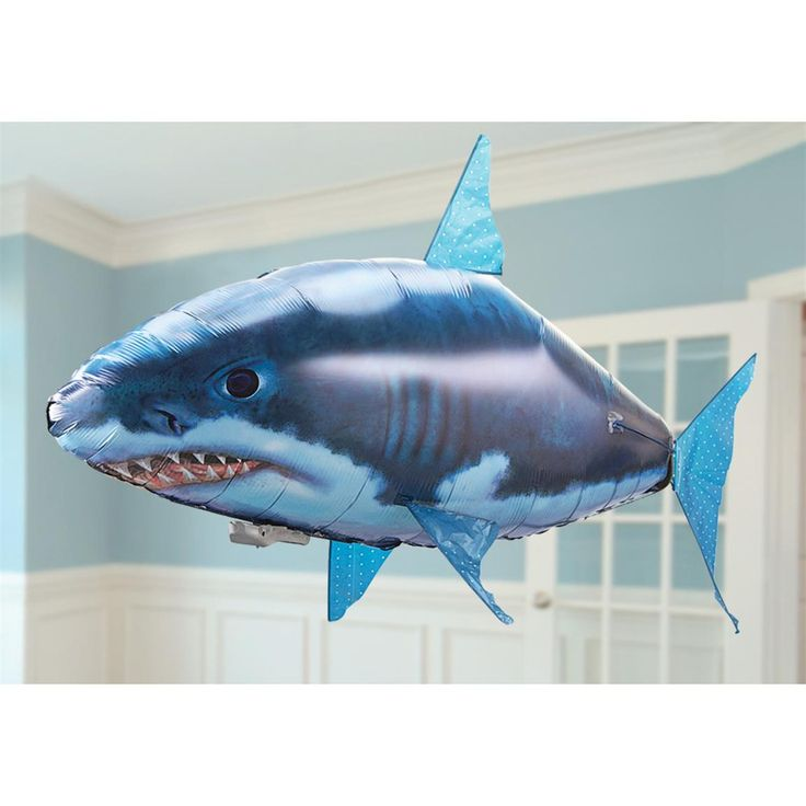 Remote control helium shark balloon. Great for parties or in my case, my Sunday school class room for our Diving Deeper into God's Word ocean theme. Love it!