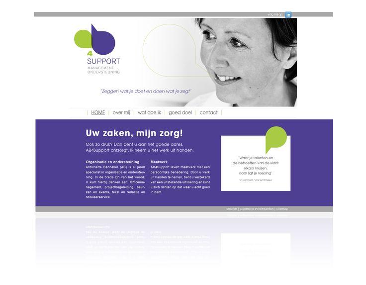 Ontwerp logo en huisstijl AB4support   managementondersteuning.