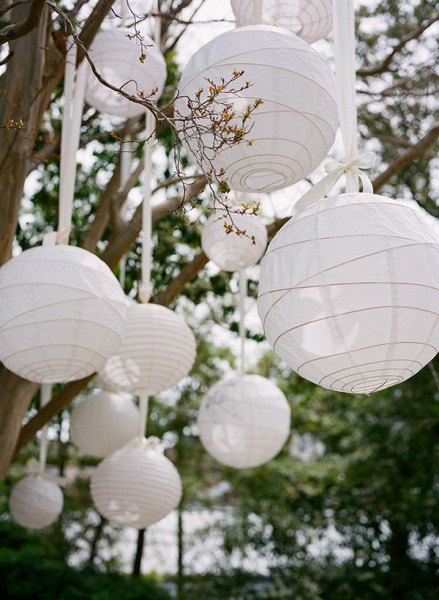 white lanterns. These would be fun in red!