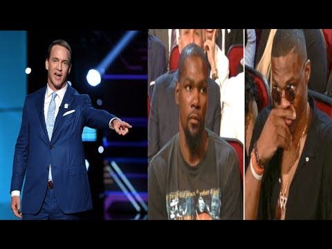(198) Kevin Durant was Salty as hell when Peyton Manning clowned him during the ESPYs - YouTube