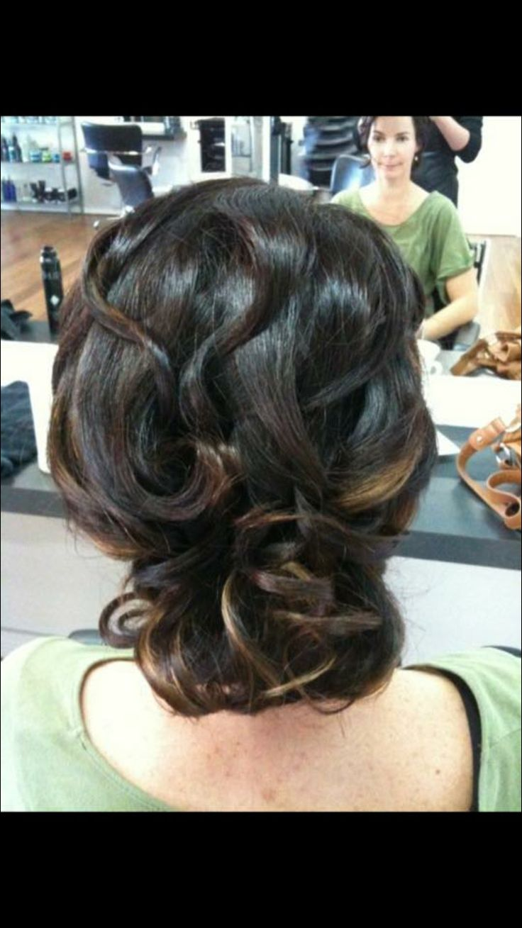 Woven back bun bridal hairstyle
