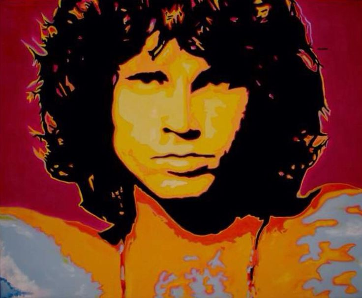 """Jim Morrison"" By K.s . . .  (60 X 50cm) Acrylic on canvas. . ."