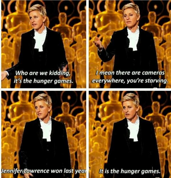 Ellen on how the Oscars are like the Hunger Games.