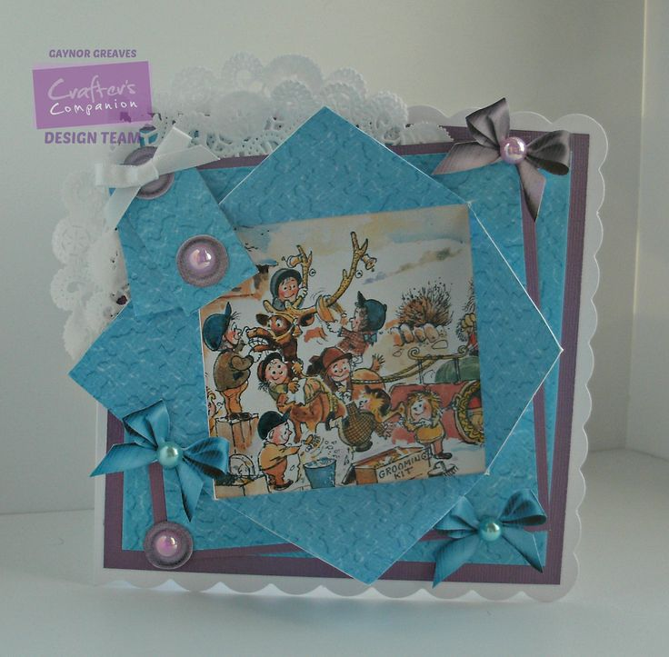 Gaynor Greaves - Crafter's Companion - Thelwell CD - Foldback card: design 3 - Core'dinations - Neenah Solar White - Collall glues - #crafterscompanion #Thelwell