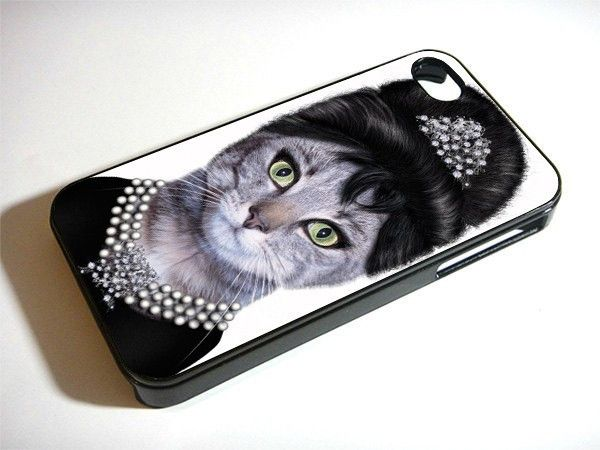 Audrey Hepburn Cat 1215 iPhone Case And Samsung Galaxy Case Available for iPhone Case iPad Case iPod Case Samsung Galaxy Case Galaxy Note Case HTC Case Blackberry Case,were ready for rubber and hard plastic material, Ready for the new one iPhone 6