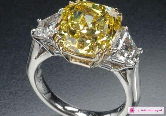 duurste ring 6 Gele Diamanten ring