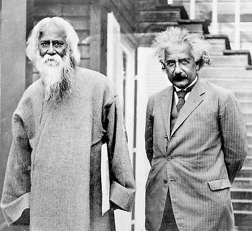 The poet and the professor… Rabindranath Tagore and Albert Einstein, August 1941.