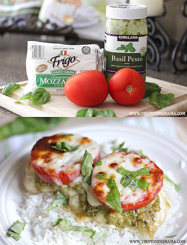 Easy + Delicious= my favorite kind of dinner recipe. 4 Ingredient Italian Chicken Bake