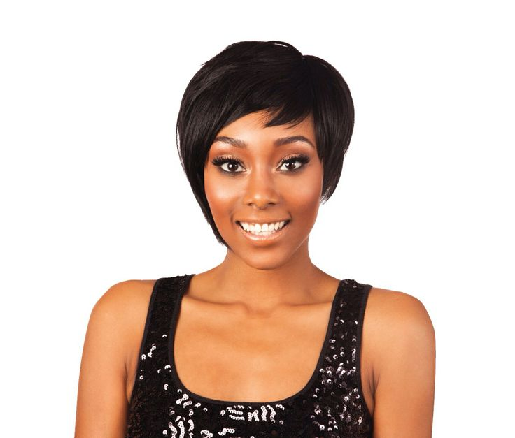 Another gorgeous Nominee Custom Fit Cap Full Wig the Nominee 05, this is also a short cropped style but it has a bit more volume and length than the number 01 and on the right side if the wig it has a stylish classy piece that curls over your ear and covers it! You can also wrt this sexy wig and go out in style! Let your hair do the talking!