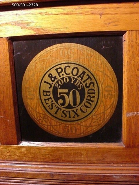 j u0026 p coats oak sewing cabinet thread childs desk - Childs Desk