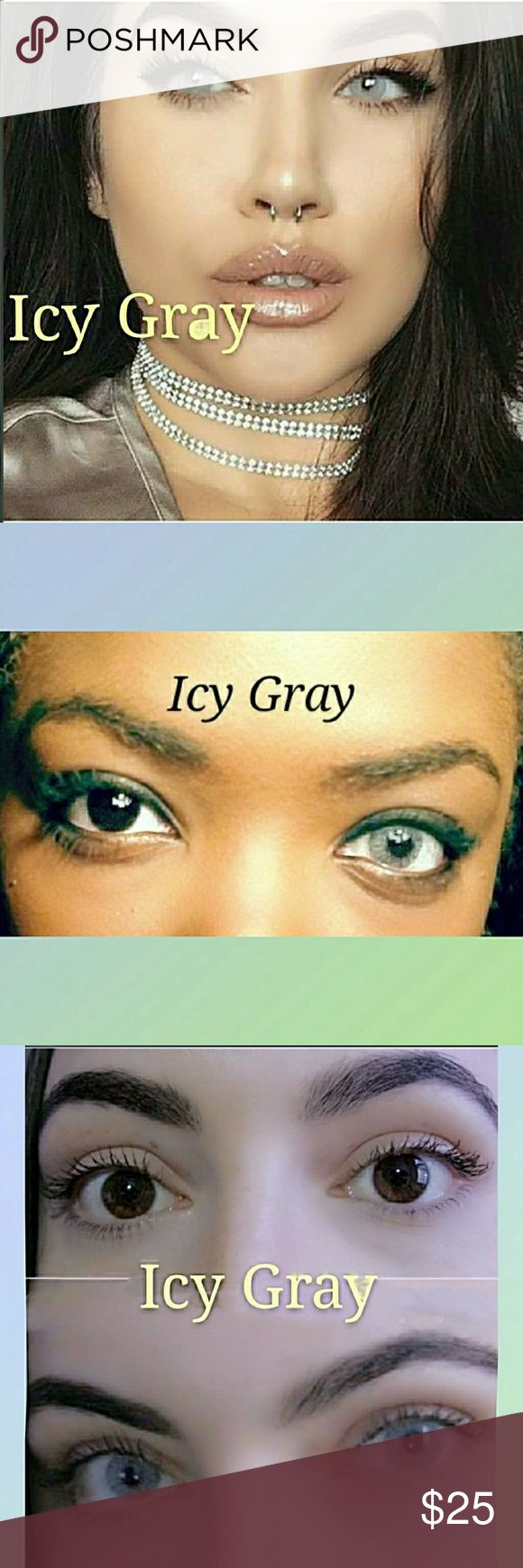 🎀 Icy Gray COLOR CONTACT LENSES ✔ Fast Shipping  ✔ Brand New in box ✔ lasts twelv months with proper care.  🚫 Please Note that my Birthday sale has ended. Price Firm Thank You Lovlies💋  Do Bundle for a private offer and save on Shipping! 🙌🙌 Makeup