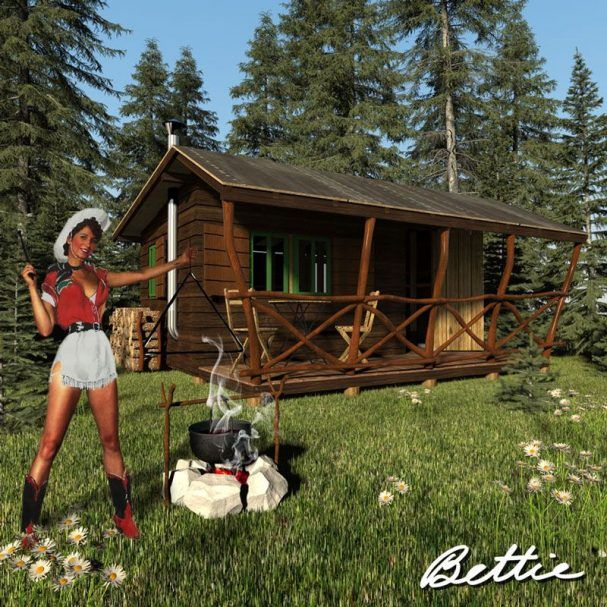 Simple Small Cabin Plans Bettie Cabin Plans Tiny Cabin Plans