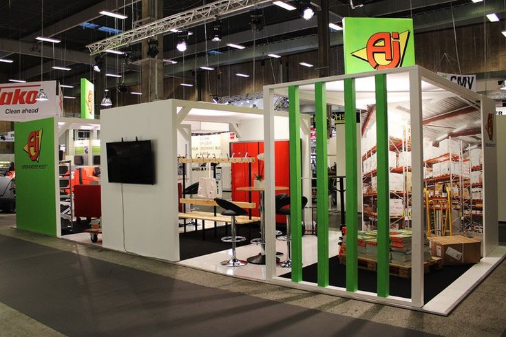 Small house makes a great environment at the stand we did for AJ Produkter