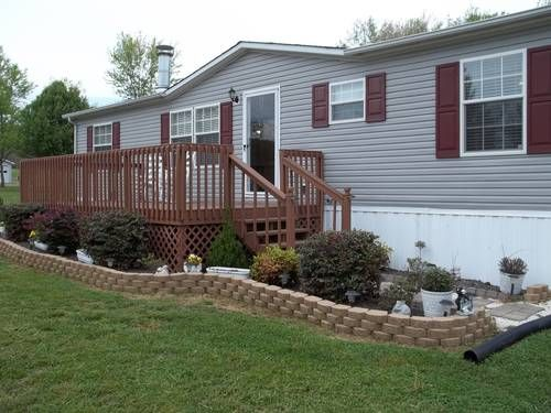Best 25 mobile homes ideas on pinterest mobile home - Front porch designs for modular homes ...