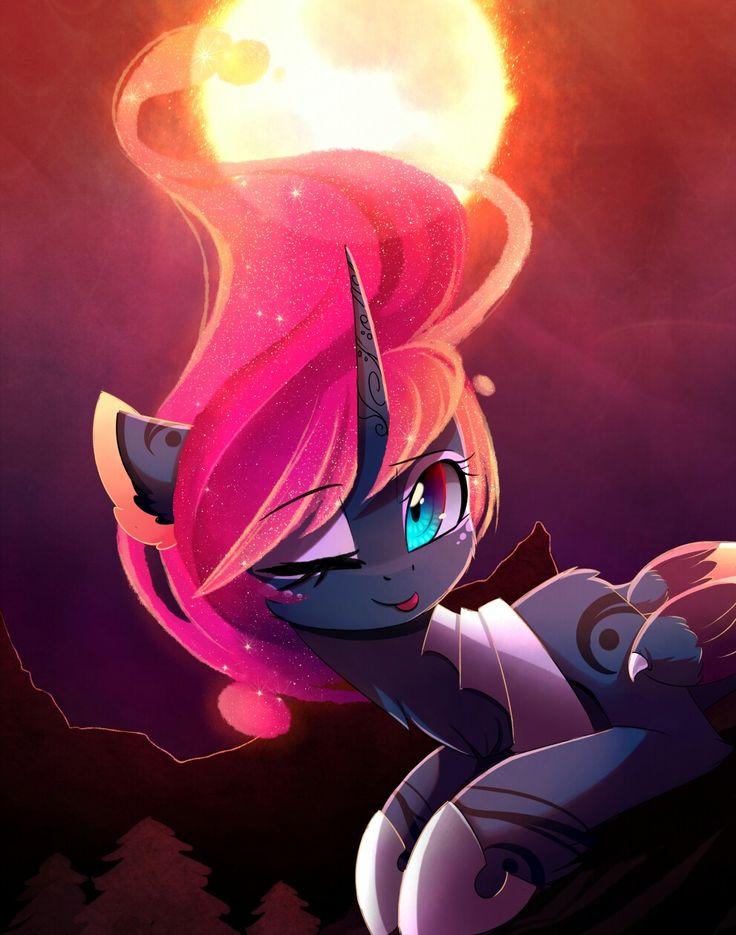 Red Flame MLP: Princess Luna Art by MagnaLuna on Deviantart